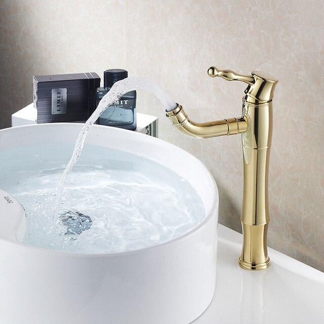 Heißer verkauf Moderne Tippen Badezimmer Becken Wasserhahn Messing Schwenk  Auslauf Chrom Farbe Mischbatterie Bad wc tap