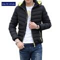 2015 NOVOS homens casuais jaqueta de inverno parka casacos de inverno dos homens e casacos plus size 3XL 4XL 5XL Para Baixo & Parkas