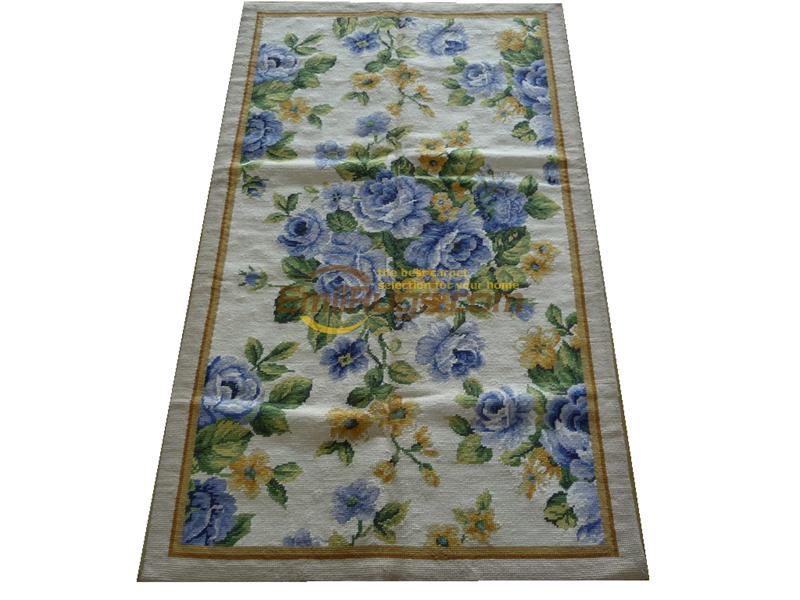 Le vieux tapis européen à pointe d'aiguille le pays usé accueil tapis d'échecs tricots à pointe d'aiguille tapis fait main tapis en laine tapis