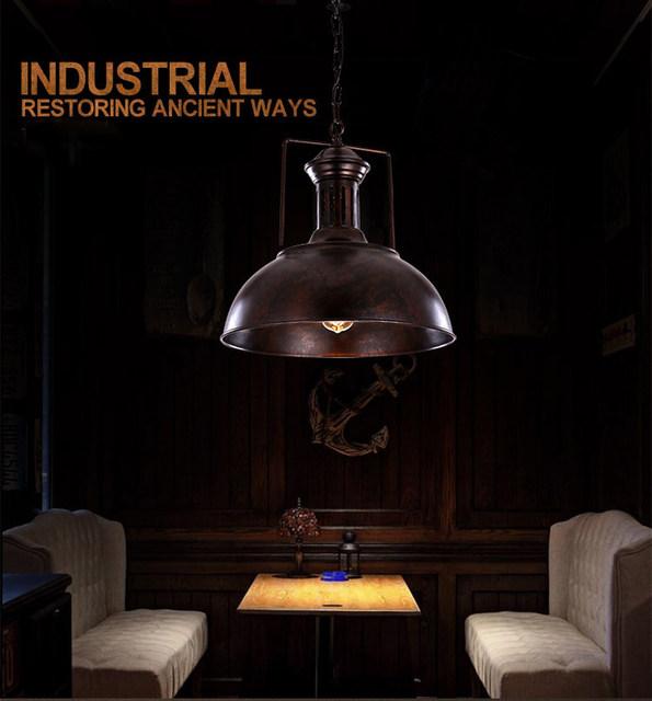 Tienda Online Vintage colgante lámpara de techo de hierro forjado ...