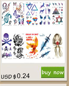 Rocooart RC2239 Body Art Water Transfer Fake Tattoo Sticker Temporary Tattoo Sticker Blue Black Wind Blown Feathers Taty Tatoo 9