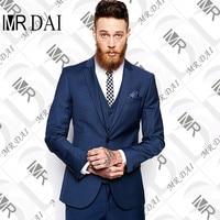 MD-029 2018 Mükemmellik Stil Erkek Akşam Yemeği Parti Balo Suits Damat Smokin Groomsmen Düğün Blazer Suits (Ceket + Pantolon + yelek)
