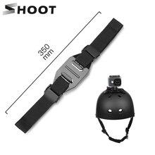تبادل لاطلاق النار قابل للتعديل خوذة حزام ل GoPro بطل 8 7 5 6 4 الأسود شاومي يي 4K Sjcam Sj4000 Sj 5000 H9 الذهاب برو جبل الدراجات اكسسوارات