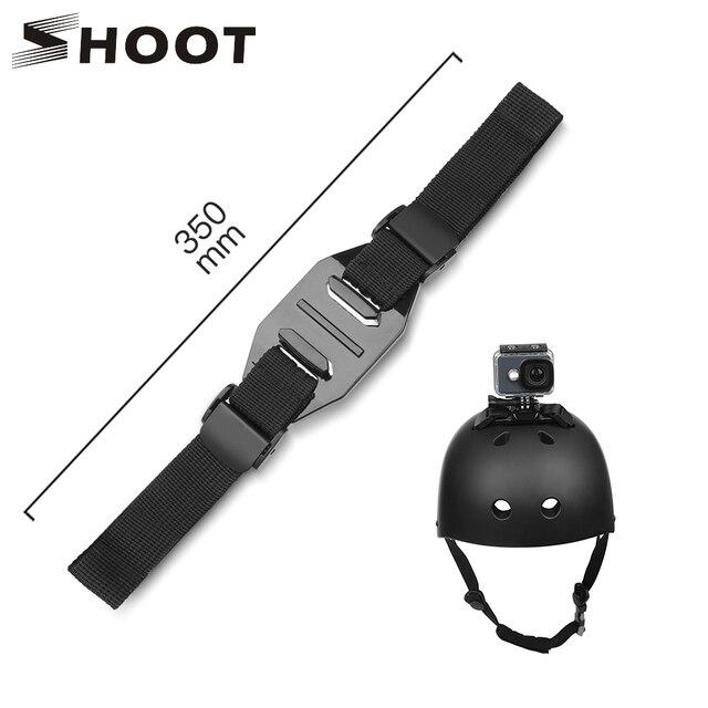 ยิงสายคล้องหมวกนิรภัยสำหรับ GoPro HERO 8 7 5 6 4 สีดำ Xiaomi Yi 4K SJCAM Sj4000 SJ 5000 H9 go Pro Mount ขี่จักรยานอุปกรณ์เสริม