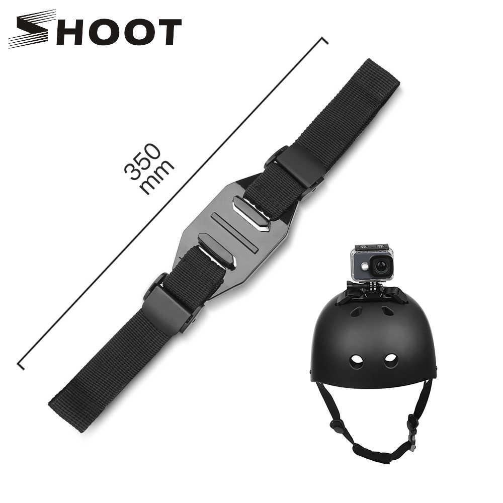 Снимать Регулируемый шлем ремень для экшн-камеры GoPro Hero 7 5 6 4 Session SJCAM SJ4000 SJ 5000 спортивной экшн-камеры Xiaomi Yi 4 K h9 экшн-камеры Go Pro крепление Велоспорт аксессуар