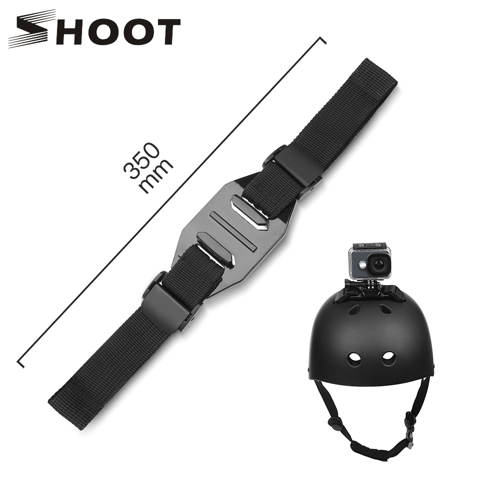 SHOOT Adjustable Helmet Strap For GoPro Hero 8 7 5 6 4 Black Xiaomi Yi 4K Sjcam Sj4000 Sj 5000 H9 Go Pro Mount Cycling Accessory