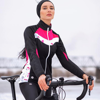 Sanitc Winter Cycling Jacket Women Pink Long Windproof Thermal Warm Bike Coats MTB Road Bicycle Outdoor Jacket Ropa Ciclismo