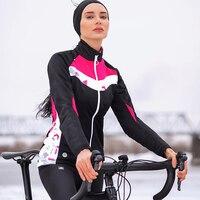 Sanitc Winter Cycling Jacket Women Pink Long Windproof Thermal Warm Bike Coats MTB Road Bicycle Outdoor Jacket Ropa Ciclismo