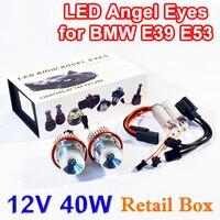 1 Set 2 20W 40W LED Marker Angel Eyes Retail Box 7000K XENON White For E39