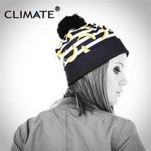 Clima 2018 nuevo mujeres Invierno Caliente sombrero de pompón Beanie 3D  Banana impresión gorros pompón negro único punto calient. 41dd4b3035c1