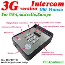 3g и GSM аудио интерком для открывания двери беспроводной контроллер доступа и аварийная служба помощь призвание dc12v Потребляемая мощность