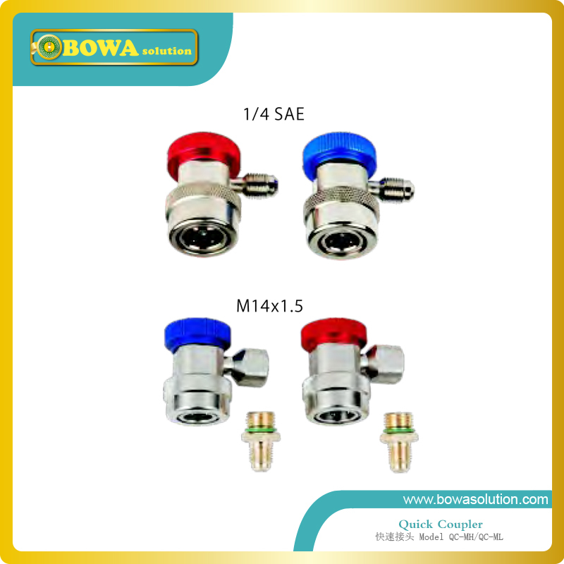 High quality quick coupler with 1/4 SAE flare connector for refrigeration equipment high quality quick 1 4 sae flare connector for refrigeration charging or discharging