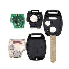 2003-2007 3 (2 + 1) botones de entrada clave fob caso dominante alejada con la viruta id46 433 mhz alarma de coche para honda/accord fit/cívico odyssey