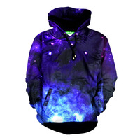 Newest Sweatshirts 3D Print Galaxy Star Blue Sky Clouds Cashmere Hoodies Casual Pullovers Hip Hop Style Streewear Tops Outerwear