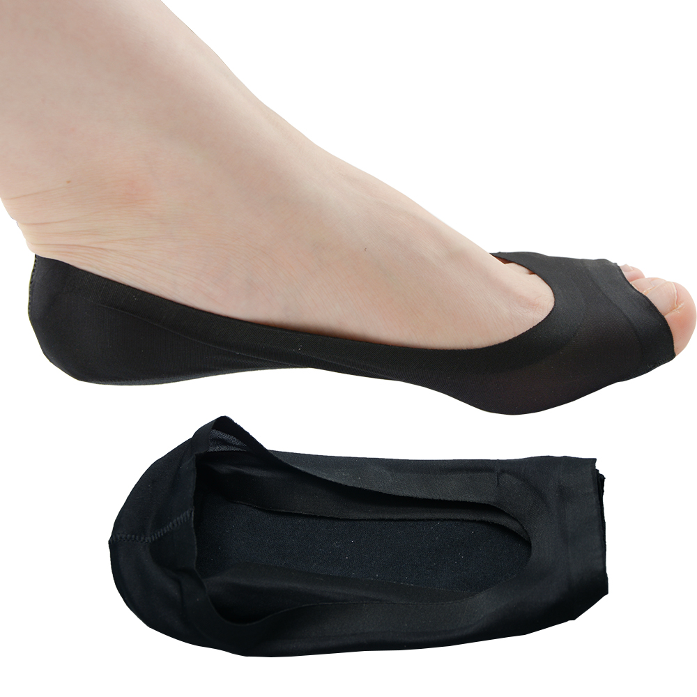 1Pair Massage Open Toe Socks Pain Relief Hot Socks Non Slip High Heels Sandal Invisible Half Open New Design Foot Care Z33301