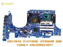 Placa base Original para portátil ACER VN7-591G, VN7-591G, GTX860M, 2GB, 448.02W03. 14206, probado, envío gratis