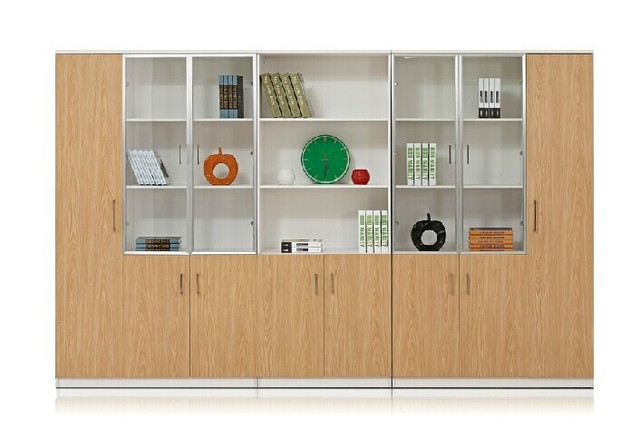 Wooden File Cabinets Office Cabinet With Gl Door Bookcase Minimalist Modern Filing