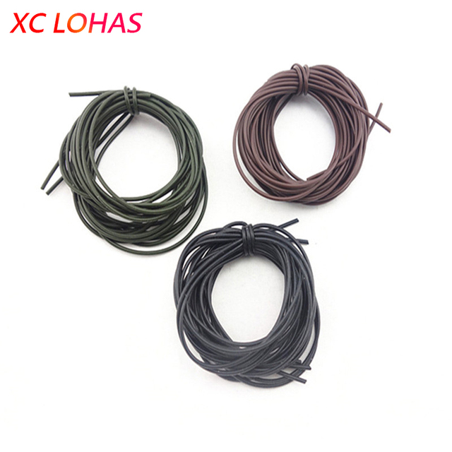 5 Pcs/Pack Soft Silicone Tube Sleeve for Carp Fishing Tackle Anti-tangle Hair Rigs Tube 1M Carp Fishing Accessories