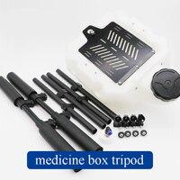 1Set EFT Carbon Fiber 10KG/16KG Medicine Box Tripod 10L/16L Pesticide Drug Bucket Sprayer Landing Gear Gimbal fr Plant UAV Drone