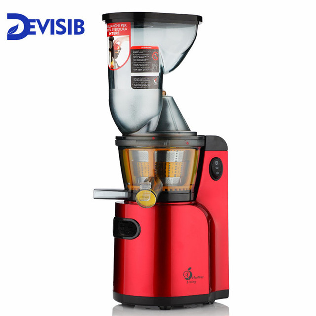 DEVISIB Juicer Slow Masticating Juicer Extractor, Cold Press Juicer Machine, Quiet Motor and Reverse Function 1