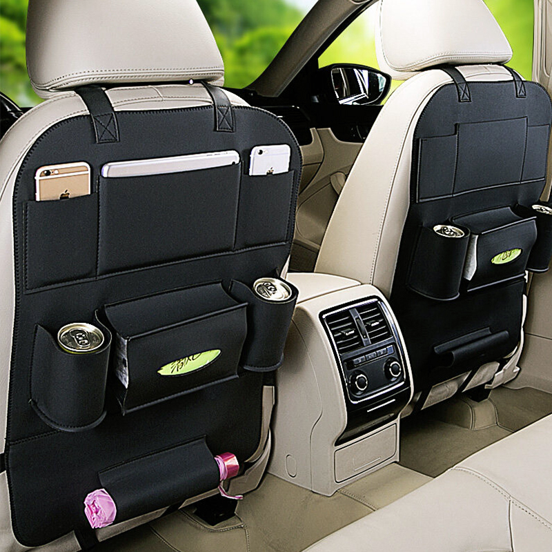 For Audi A4 A5 A6 B5 B6 B7 Q3 Q5 Q7 Rs Quattro S Line C5 C6 Tt Sline A3 A7 Auto Seat Back Storage Bag Multifunction Hanging Bags
