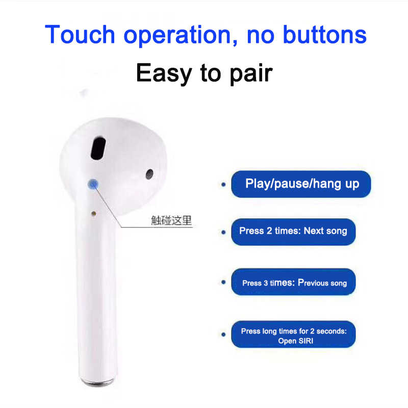Mini I10 TWS Bluetooth v5 0 Headset Wireless Earphone Earbuds With Charging  Box for iPhone Android PK i9s i7s i8s LK-TE8