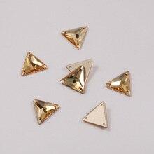 3270 Golden Shadow Trilliant Rhinestone Sew On Stone Jewelry Sewing Diamond Craft Crystal Strass