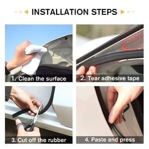 Image 4 - WHDZ 1 sztuk/para 5M samoprzylepna samochodowa gumowa uszczelka taśma uszczelniająca na okno samochodu krawędź drzwi antykolizyjny pasek gumowy