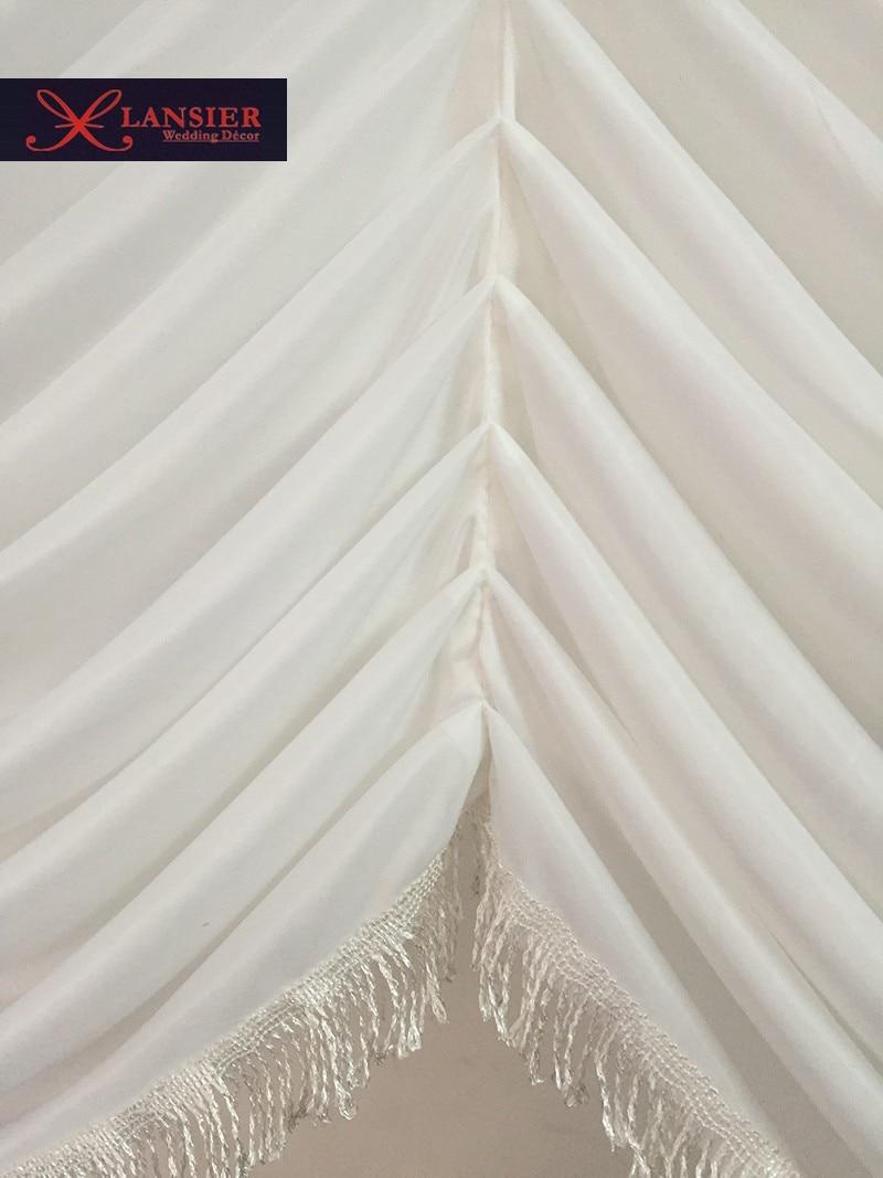 El botín de seda blanco desmontable para el telón de fondo de boda - Para fiestas y celebraciones - foto 5