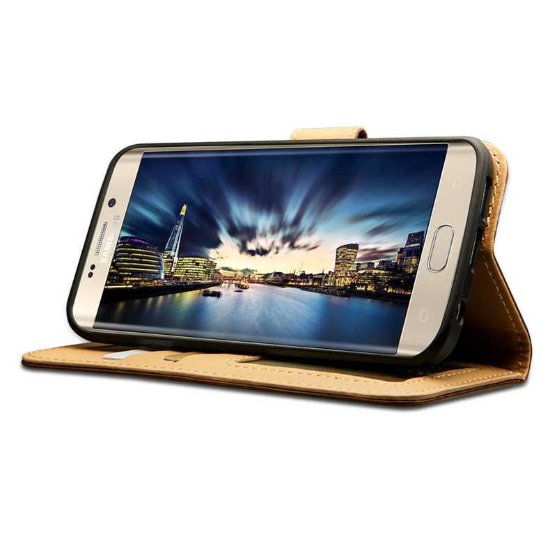 Jisoncase Fällen für Samsung Galaxy S7 Brieftasche Fall Abdeckung Leder Magnetische Karte Slot Coque Telefon Fall für Samsung S7 S7 rand Abdeckung
