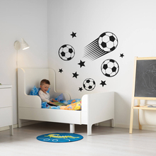 Football With Stars Wall Sticker For Kids Bedroom Vinyl Art Removable Poster Mural Nursery Room Decoration Design Diy W174 цены