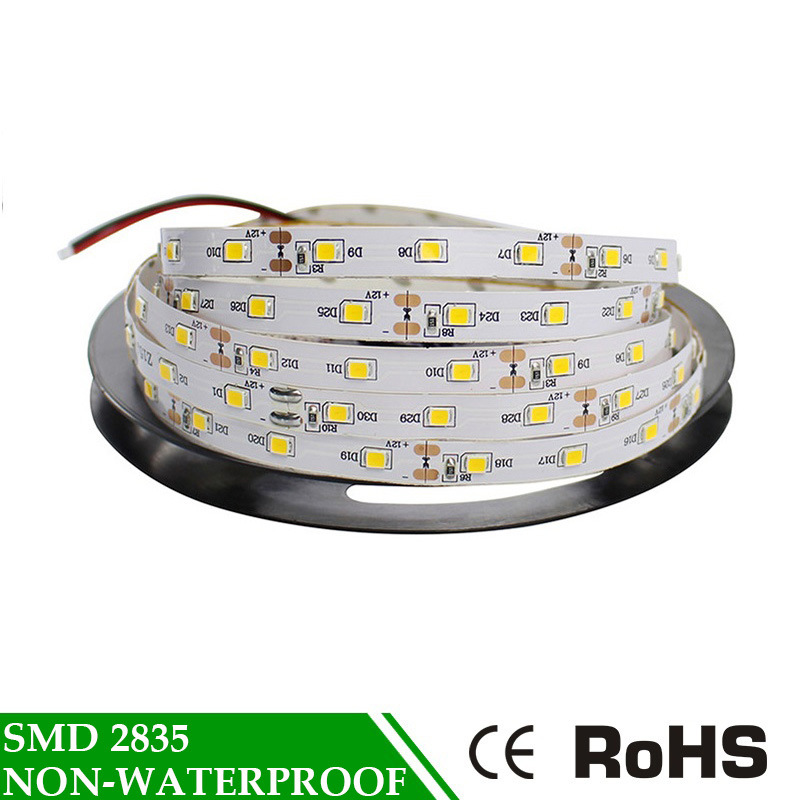 <font><b>LED</b></font> Strip 2835 DC12V 60LEDs/m 5m/lot Flexible <font><b>LED</b></font> Light <font><b>RGB</b></font> 2835 <font><b>LED</b></font> Strip For TV Background Lighting Flexible Ribbon <font><b>Tape</b></font>