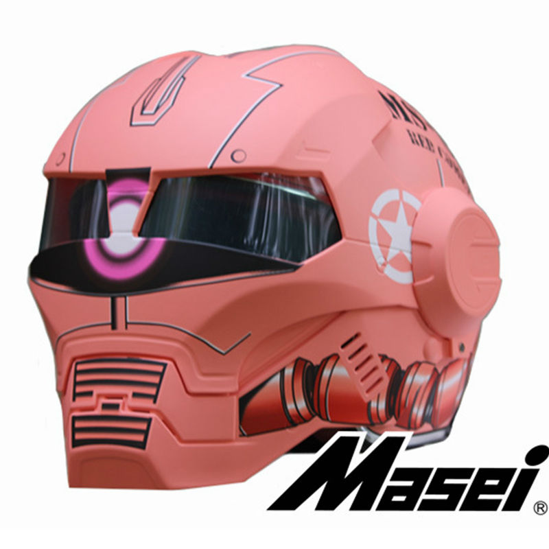 NEW style 610 Pink Gouda Zach MASEI  motorcycle helmet IRONMAN Iron Man helmet open face helmet casque motocross недорого