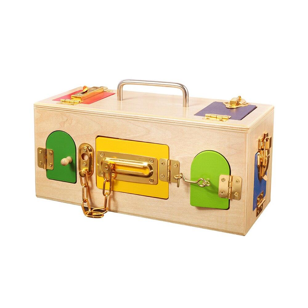 Montessori jouets serrure boîte jouet Montessori éducatif en bois jouets pour enfants sensoriel éducatif en bois jeux cadeau pratique