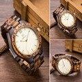 Top Luxury Brand Designer New Mens Holz Uhr Gemischte Zabra und schwarz Holz Mode Quarz Uhren für Männer Japan miyota Uhr Männer-in Quarz-Uhren aus Uhren bei