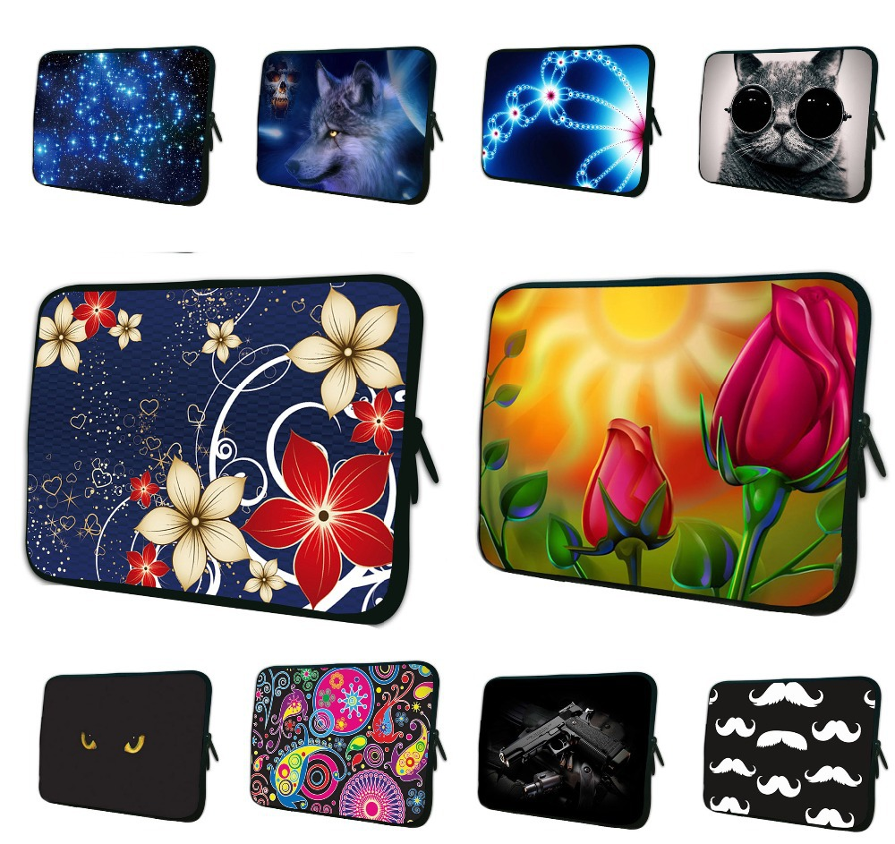 Floral Notebook Computer Women Bag 7 10 12 13 13.3 14 15.4 15.6 17 Tablet Netbook Protect Briefcase Durable Pouch Bags For iPad