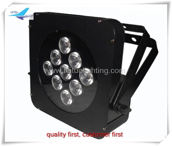 6lot Led par stage light tri led flat par 9x9w or 18w rgbwauv 6in1 slim dj dmx led par light