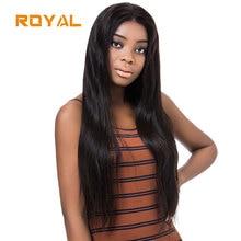Полные кружевные человеческие волосы Парики Бразильские прямые парики Натуральная линия волос с детскими волосами Средние коричневые Швейцарские кружева Non Remy Royal Wig