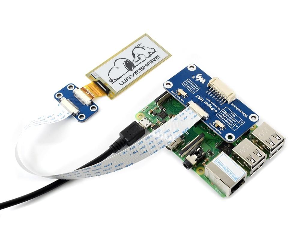 Waveshare flexible e-paper 2.13inch E-Ink display HAT for Raspberry Pi Zero/Zero W/Zero WH/2B/3B/3B+ black/white SPI interface