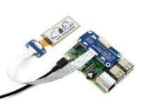 Waveshare-Sombrero de pantalla flexible e-paper de 2,13 pulgadas para Raspberry Pi Zero/Zero W/Zero WH/2B/3B/+ interfaz 3B SPI negro/blanco