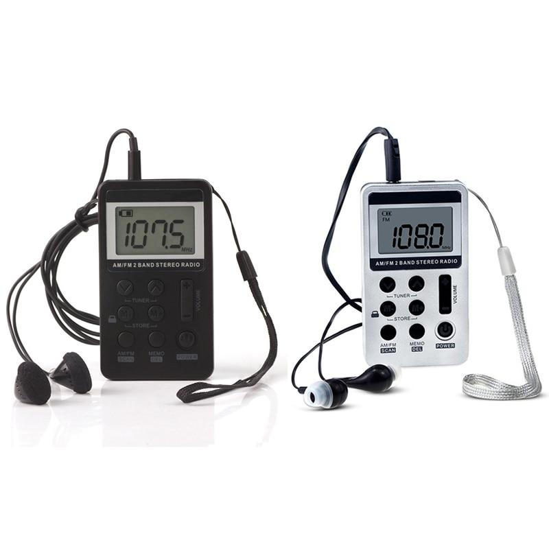 Lanyard Radio Tragbare Mini Tragbare Radio Fm/am Digital-receiver Mit Akku & Kopfhörer Radio Unterhaltungselektronik