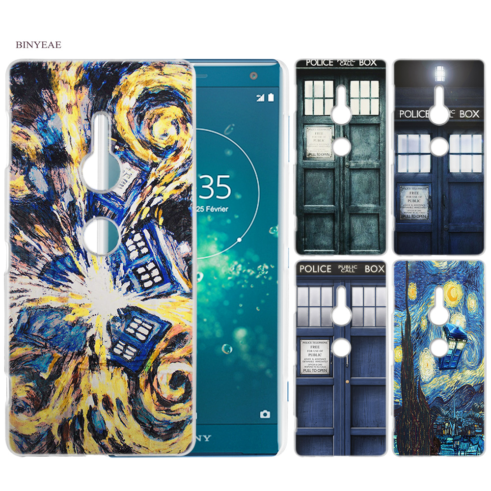 Half-wrapped Case Adroit Binyeae Tardis Box Doctor Who Clear Case Cover Coqe For Sony Xperia Xz2 Z5 Compact Xz1 Xz Xa2 Xa1 M4 Aqua M5 E4 E5 To Enjoy High Reputation In The International Market