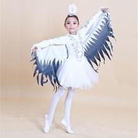 ילדים לרקוד תלבושות מחול מודרני תלבושות דמויות בעלי החיים ליל כל הקדושים בגדי ציפורים דרורים בגדי ביצועי Magpie