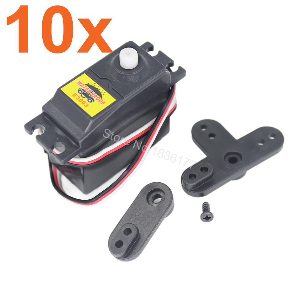 Wholesale 10Set/Lot HSP 02073 Electronic Steering Servo 3Kg High Torque For 1/10th 1/16 4WD RC Car Hobby Model Truck Baja 2pcs hsp 106017 106617 aluminum steering linkage 06016 front rear servo link 1 10th upgrade parts for r c model car buggy