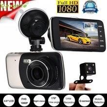 """Nueva Llegada 4 """"IPS HD 1080 P Lente Dual Cámara Del Coche DVR Grabador de Vídeo Dash Cam G-sensor Trasero sensor fe17"""