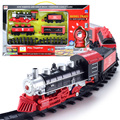Kids electric Railway train Toys Classical Enlighten Train Track 17 pcs/set Model Railroad 1/87 Electric Rail Car kids toy