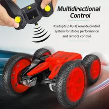 JJRC Q71 2.4g Remote Control Car Rotating Double Sided Stunt 360 Degree Flip Rechargeable Deformable Toy For Children Rc