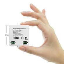 小さなスマートスイッチミニ無線 lan スイッチ ewelink app リモコン domotica diy ホームオートメーション alexa による音声制御 google ホーム
