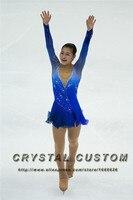 Blue Figure Skating Dress Elegant New Brand Competition Ice Figure Skating Dresses For Women DR3507