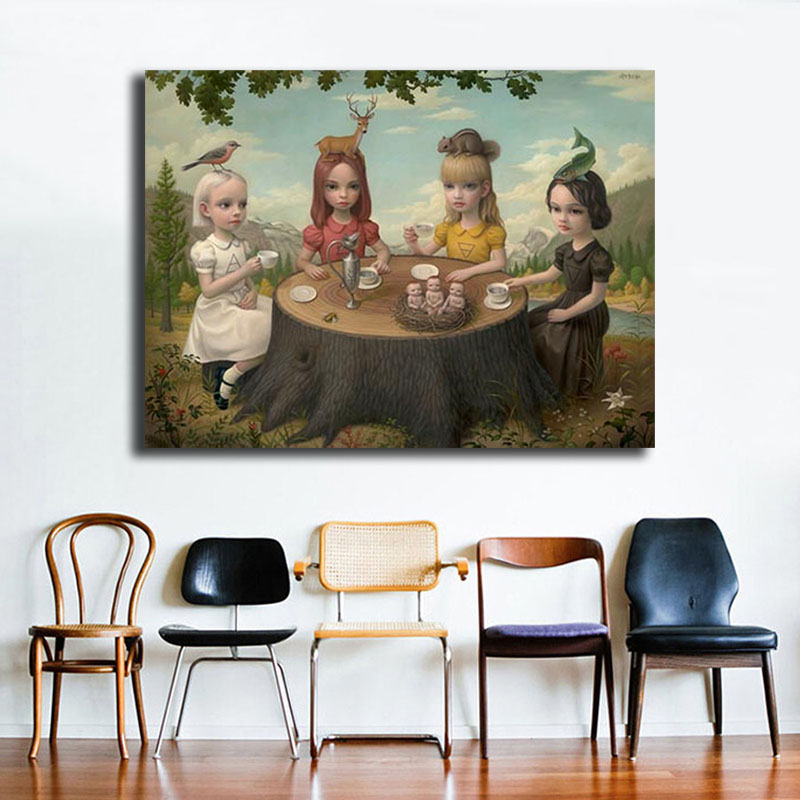 Mark Ryden Allegory Of The Four Elements HD Wall Art Canvas Posters Prints Painting Pictures For Modern Bedroom Home Decor